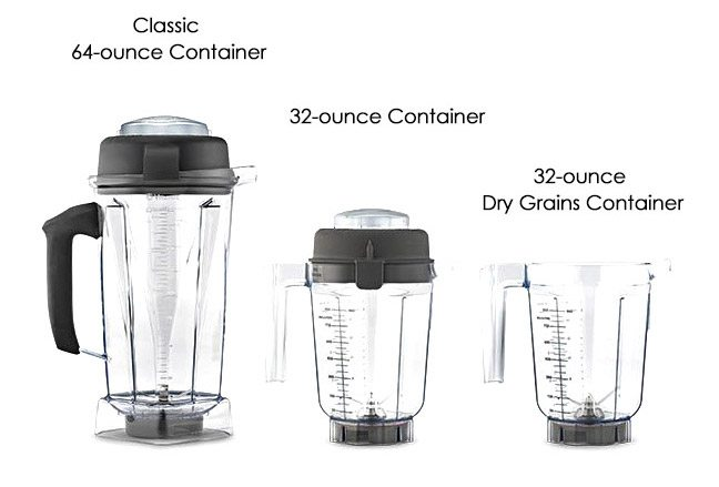 Vitamix 5200 container types